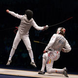 Campeonato de cerco 2006 do mundo; Baldini-Joppich Fotografia de Stock