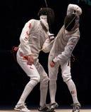 Campeonato de cerco 2006 do mundo; Joppich-Leus Sheng Fotografia de Stock