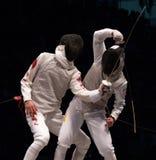 Campeonato de cerco 2006 do mundo; Joppich-Leus Sheng Foto de Stock