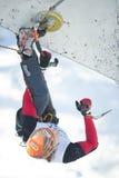 Campeonato de escalada 2011 do mundo do gelo Fotos de Stock