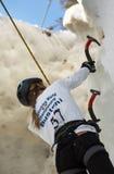 Campeonato de escalada Busteni 2007 do mundo do gelo Imagens de Stock Royalty Free