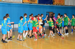 Campeonato de Floorball de Ucrânia 2011-2012 Fotos de Stock