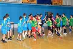 Campeonato de Floorball de Ucrania 2011-2012 Fotos de archivo