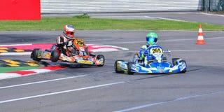 Campeonato de Karting del europeo de CIK-FIA Imagen de archivo libre de regalías