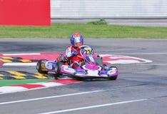 Campeonato de Karting del europeo de CIK-FIA Imágenes de archivo libres de regalías