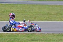 Campeonato de Karting del europeo de CIK-FIA Fotografía de archivo libre de regalías