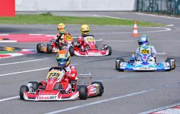 Campeonato de Karting do europeu de CIK-FIA Imagem de Stock Royalty Free