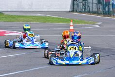 Campeonato de Karting do europeu de CIK-FIA Foto de Stock Royalty Free
