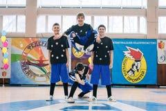 Campeonato de la ciudad de Kamenskoye en animar entre solos, dúos y equipos Fotografía de archivo