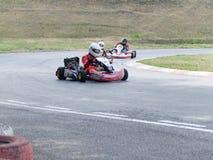 Campeonato de la región de Omsk en el verano karting Foto de archivo