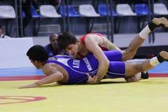 Campeonato de lucha del cadete de 2014 europeos Imágenes de archivo libres de regalías