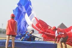 Campeonato de salto de paraquedas militar do mundo Imagem de Stock