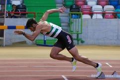 Campeonato del atletismo, Joao Ferreira Imágenes de archivo libres de regalías