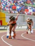 Campeonato del atletismo, Mirian Tavares Imágenes de archivo libres de regalías