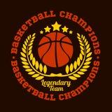 Campeonato del baloncesto - emblema del vector Foto de archivo libre de regalías