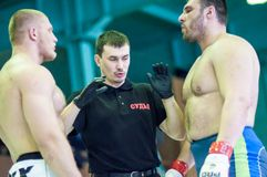 Campeonato del distrito federal de Volga en artes marciales mezclados Imagen de archivo