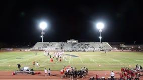 Campeonato del estado del fútbol de AYA - Chaparral AZ contra Desierto Vista AZ fotos de archivo libres de regalías