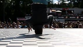 Campeonato del estilo y del breakdance modernos de la danza almacen de video
