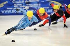 Campeonato del europeo de la pista de 2010 cortocircuitos foto de archivo libre de regalías