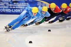Campeonato del europeo de la pista de 2010 cortocircuitos imagen de archivo