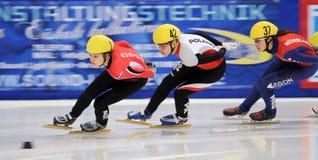 Campeonato del europeo de la pista de 2010 cortocircuitos fotos de archivo