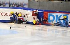 Campeonato del europeo de la pista de 2010 cortocircuitos fotografía de archivo libre de regalías