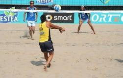 Campeonato del europeo del voleibol de la playa Foto de archivo libre de regalías