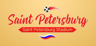 Campeonato del fútbol del mundo en Rusia 2018 stock de ilustración