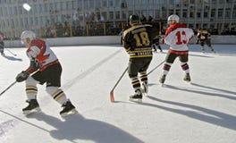Campeonato del hockey la taza de alcalde Pyatigorsk Imagenes de archivo