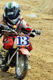 Campeonato del joven del motocrós Imagenes de archivo