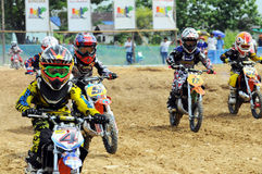 Campeonato del joven del motocrós Foto de archivo libre de regalías