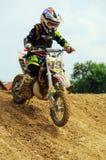 Campeonato del joven del motocrós Imagen de archivo libre de regalías