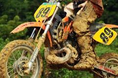 Campeonato del joven del motocrós Imagen de archivo
