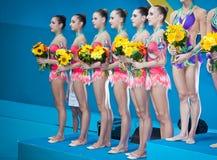 Campeonato del mundo de la gimnasia rítmica Imagenes de archivo
