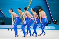 Campeonato del mundo de la gimnasia rítmica Fotos de archivo
