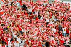 Campeonato del mundo de los hombres del voleibol, ceremonia de inauguración, Varsovia, el 30 de agosto de 2014 Imagen de archivo