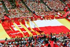 Campeonato del mundo de los hombres del voleibol, ceremonia de inauguración, Varsovia, el 30 de agosto de 2014 Fotos de archivo