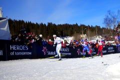 campeonato del mundo del esquí de los 50km Oslo 2011 Imágenes de archivo libres de regalías