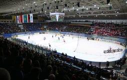Campeonato 2017 del mundo del hockey sobre hielo Div 1 en Kiev, Ucrania Fotos de archivo
