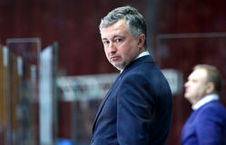 Campeonato 2017 del mundo del hockey sobre hielo Div 1 en Kiev, Ucrania Fotos de archivo libres de regalías