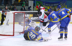 Campeonato 2017 del mundo del hockey sobre hielo Div 1 en Kiev, Ucrania Fotografía de archivo
