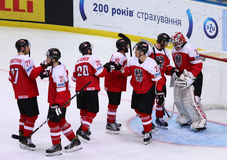Campeonato 2017 del mundo del hockey sobre hielo Div 1 en Kiev, Ucrania Imagenes de archivo