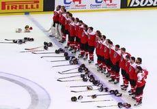 Campeonato 2017 del mundo del hockey sobre hielo Div 1 en Kiev, Ucrania Imagen de archivo libre de regalías