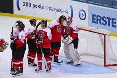 Campeonato 2017 del mundo del hockey sobre hielo Div 1 en Kiev, Ucrania Imagen de archivo