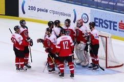 Campeonato 2017 del mundo del hockey sobre hielo Div 1 en Kiev, Ucrania Imágenes de archivo libres de regalías