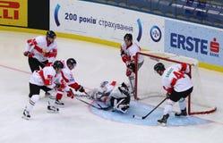 Campeonato 2017 del mundo del hockey sobre hielo Div 1 en Kyiv, Ucrania Fotos de archivo libres de regalías