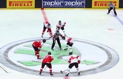 Campeonato 2017 del mundo del hockey sobre hielo Div 1 en Kyiv, Ucrania Foto de archivo libre de regalías