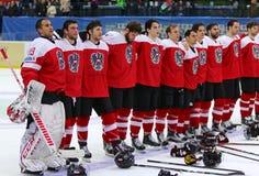 Campeonato 2017 del mundo del hockey sobre hielo Div 1 en Kyiv, Ucrania Foto de archivo