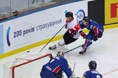Campeonato 2017 del mundo del hockey sobre hielo Div 1 en Kyiv, Ucrania Imagen de archivo