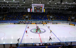Campeonato 2017 del mundo del hockey sobre hielo Div 1 en Kyiv, Ucrania Fotografía de archivo libre de regalías